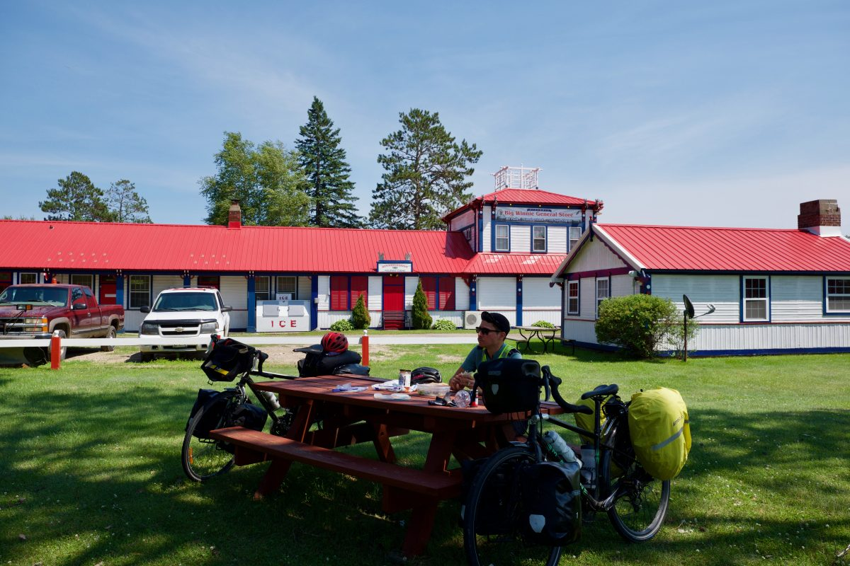 Pause lunch au milieu de la Chippewa National Forest