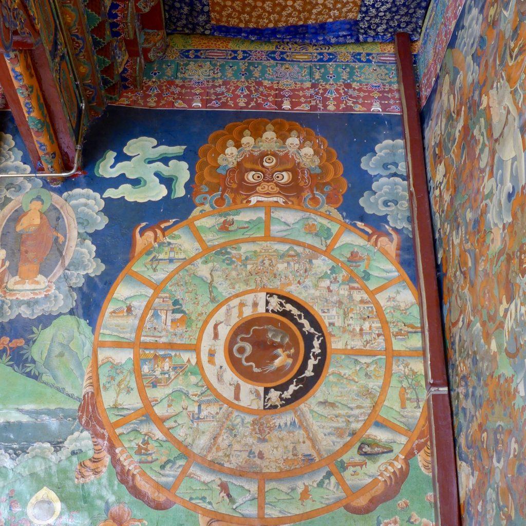 Roue De L'existence Karmique Ou Bhavacakra - Sera Monastery