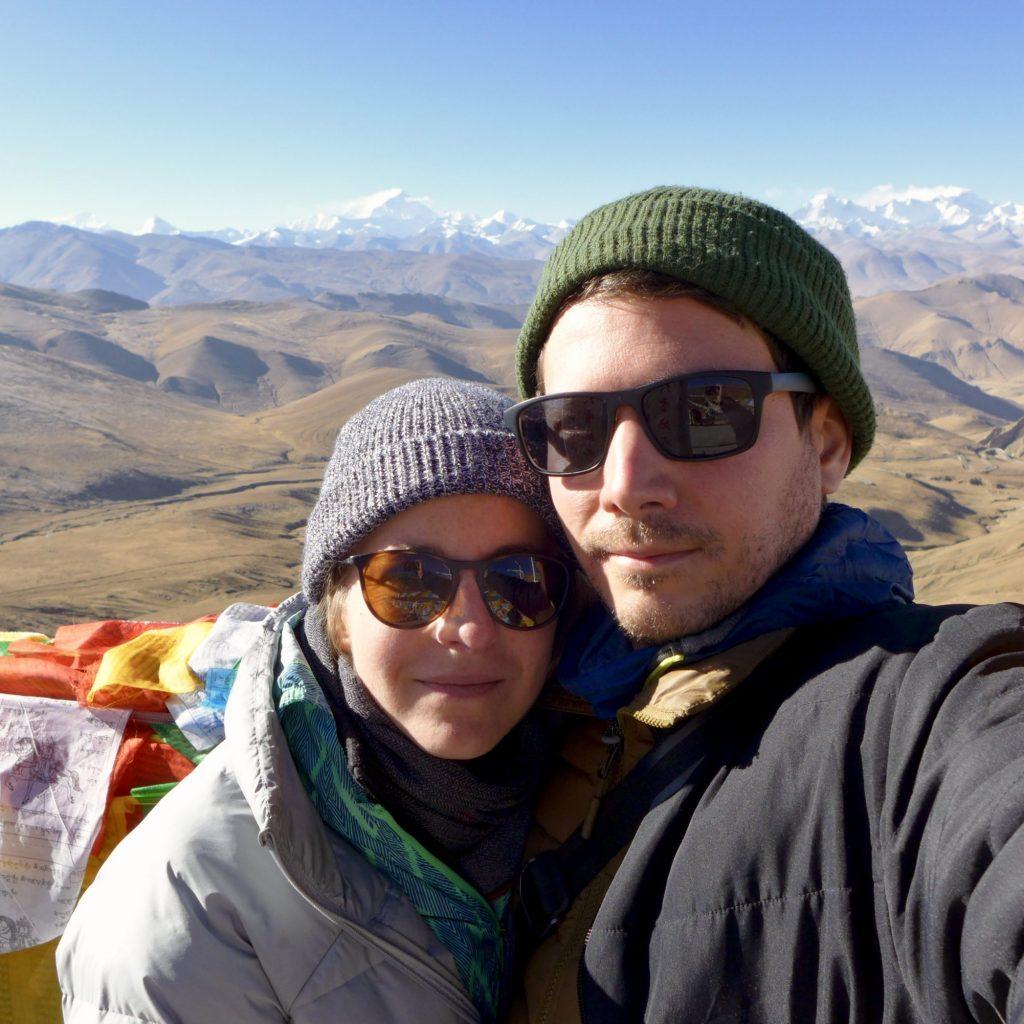 Devant La Chaîne De L'Himalaya