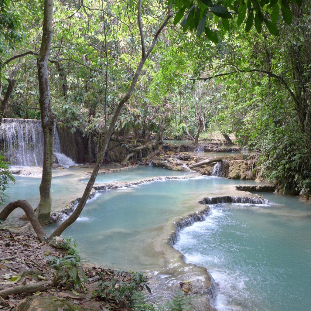 Chutes D'eau De Kuang Si Falls