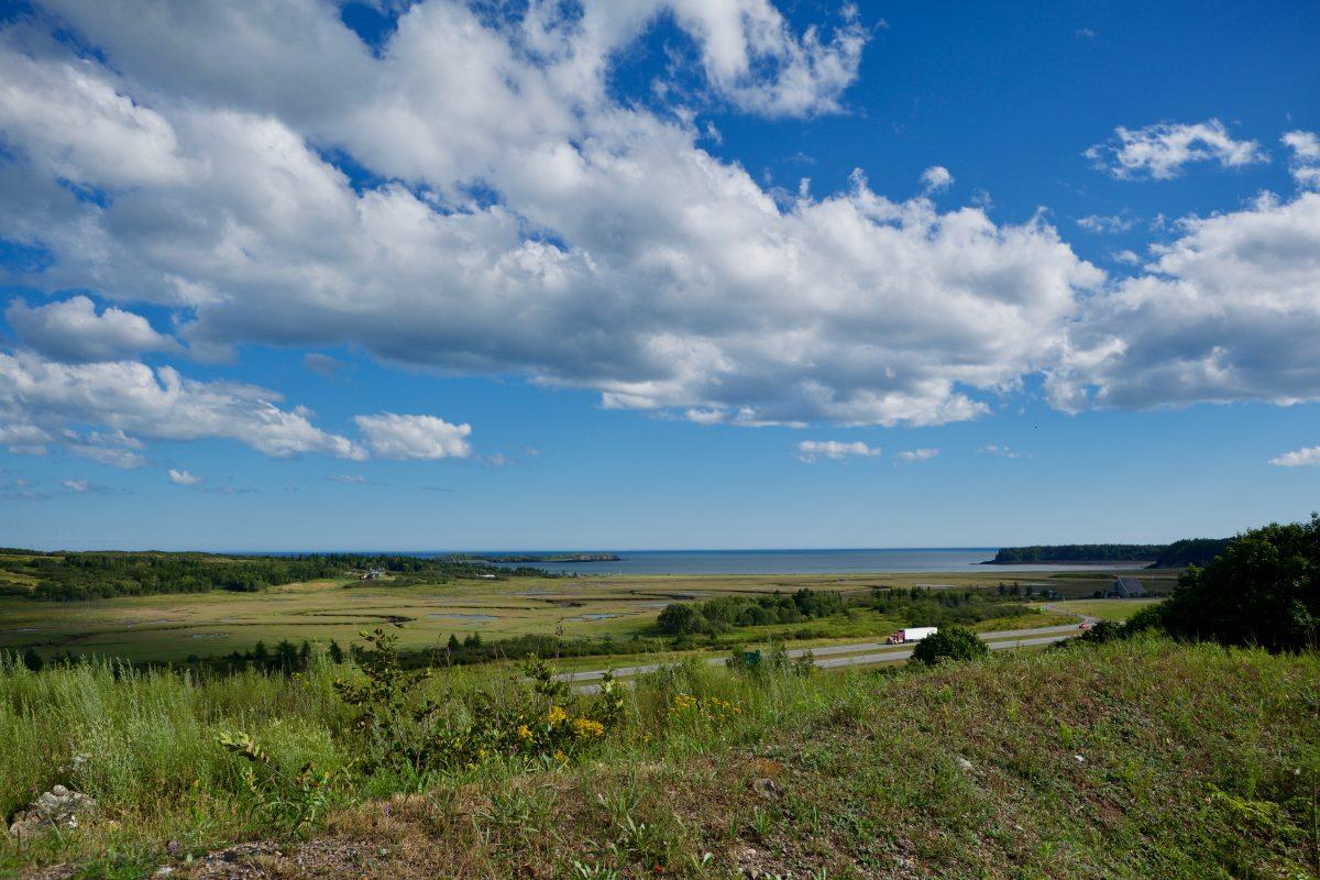 Première vue de la baie de Fundy