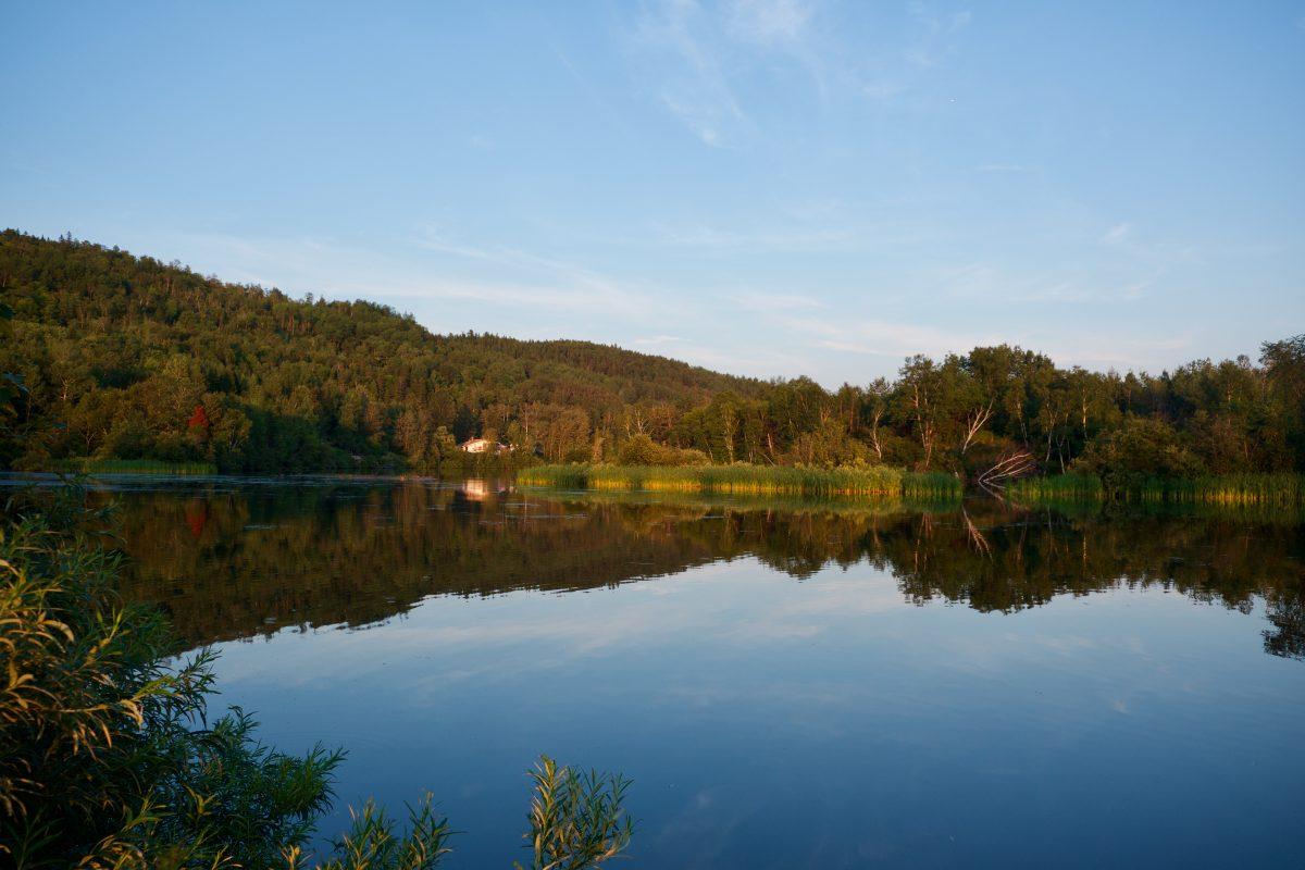 Vue de notre site au camping